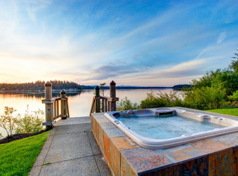 hot tub scenery