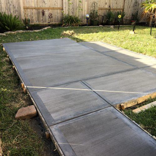 concrete slab for shed