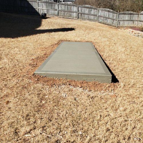 isolated concrete slab